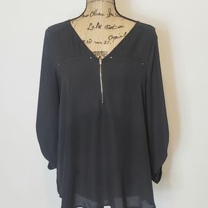 Maurice's Zip Front Three Quarter Button up Sleeve